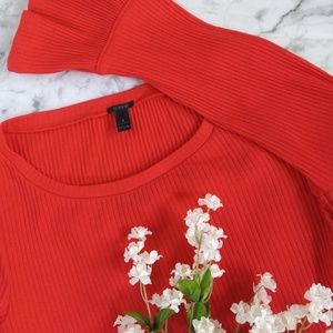 J. Crew Bell Sleeve Top